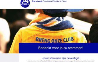 Rabobank Clubkas Campagne levert mooi bedrag op