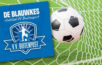 VV Buitenpost voetbalt niet, maar scoort wel een hit